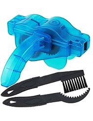 Witasm Limpia cadenas de bicicleta limpiador de cadena de bici + cepillo + limpiador de piñón