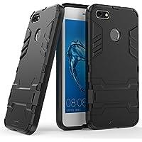 Huawei Enjoy 7 Funda, FindaGift Doble capa 2 en 1 Soft TPU + PC dura Armadura Cover [Antichoque][Protección completa del cuerpo][Anti-rasguños] Bumper Back Case con Kickstand para Huawei Enjoy 7 (negro)