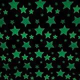 Plaid Kuscheldecke grau Stern Sterne meliert leuchtend phosphorisierend leuchtet im Dunkeln