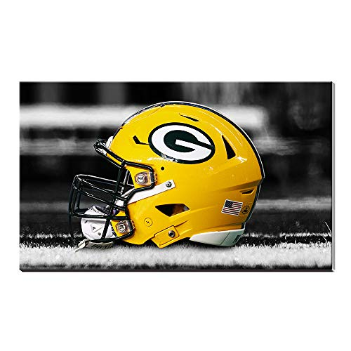 Yellow Home Decor Green Bay Packers Logo Sport Fußball Poster Ölgemälde Kunstdrucke 20x28inch frameless (Home Bay Green Decor Packers)