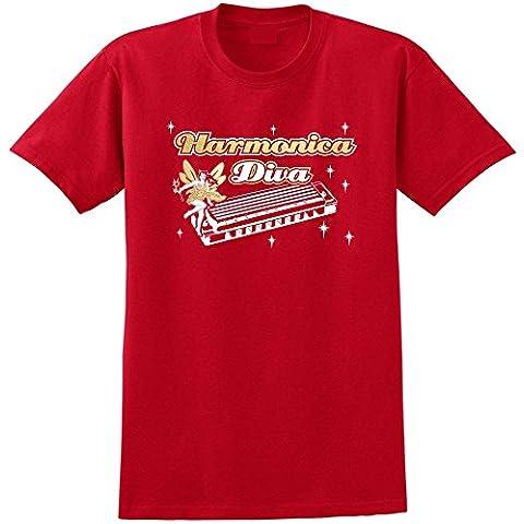 Harmonica Diva Fairee - Música T Shirt 13 Tamañon 5 Años - 6XL - 9 Colores MusicaliTee