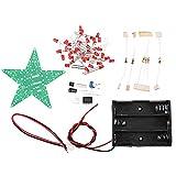 DIY-elektronische kit Met batterijvak Pentagram Light Star Light Kit, DIY Rood/Groen/Blauw Licht LED-flash-kit (Color : Red)