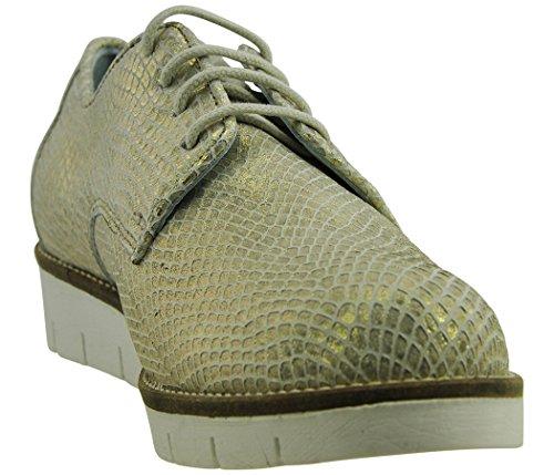 JJ Footwear Damen Schuh Leder Betem Normal Gold Odesa