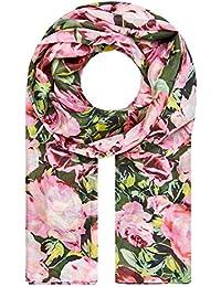 HALLHUBER Rose print silk scarf