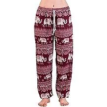 Pantalón ligero de Aladdin Verano Con Elefante, diseño de fina Natural de viscosa, cabe S a M, en muchos colores, con 2bolsillos,