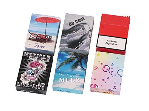 Zigarettenschachtel Überzieher aus Karton slipp overall mit Deckel Retro hlle