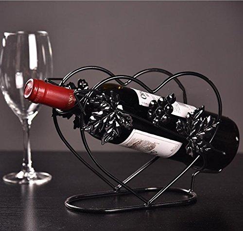 WENGKHF 18 cm * 10 cm * 17,5 cm Wein Racks Wein rack Weinregal Möbel des Wrought Eisens Wein Cabinet , e black