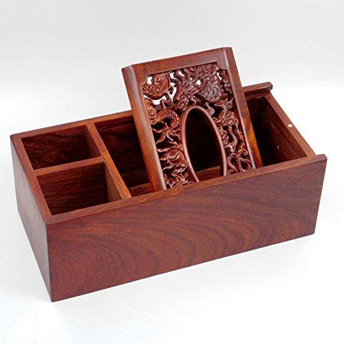 Redwood Box (Home & Style Vietnam Redwood Remote Control Aufbewahrungsbox Palisander Buchbox Massivholz Tissue Box Desktop Konsolidierung Aufbewahrungsbox)