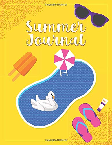 Summer Journal: Vacation Notebook For Kids, Swimming Pool Theme Cover Design