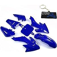 Stoneder Carénage Kits de corps Coque en plastique Bleu pour Honda CRF50Stomp Coolster SDG GPX