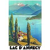 """Éditions Clouet 50086 - Affiche touristique 50x70 cm """"PLM - Vue sur le Lac d'Annecy""""..."""