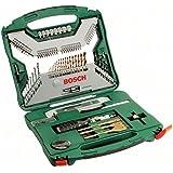 Bosch X-Line Titanio - Maletín de 100 unidades para taladrar y atornillar