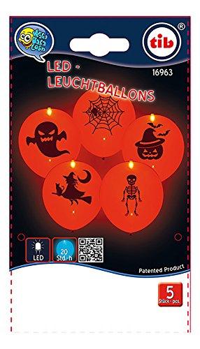 ED Luftballons, Halloween, leuchtend, 5 Stück, SB-Btl, 20 Beutel, Aufrisskartontl (Halloween-sb)