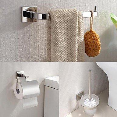 MZP 304 Edelstahl 3 Stück Bad-Zubehör-Set Handtuchring und Toilettenbürstenhalter und Papierrollenhalter
