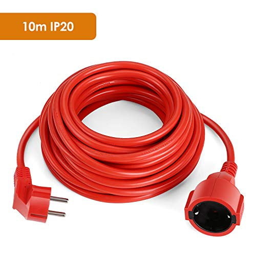 SIMBR Alargador Electrico 10m IP20 H05VV Cable Alargador Corriente IP20 H05VV Alargador...