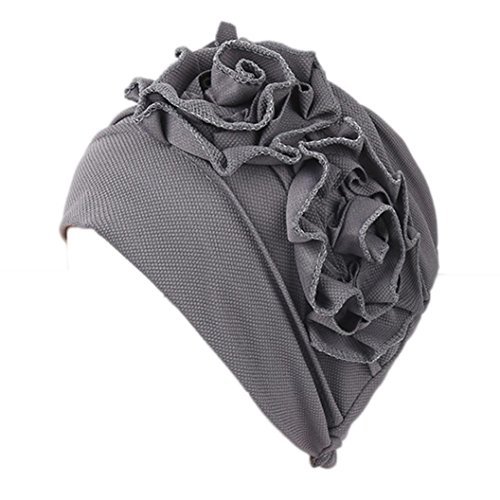 Ouneed Fleur Borde Turban Chimio Femme Bonnet Musulmanes Coton Wrap Hijib Cap