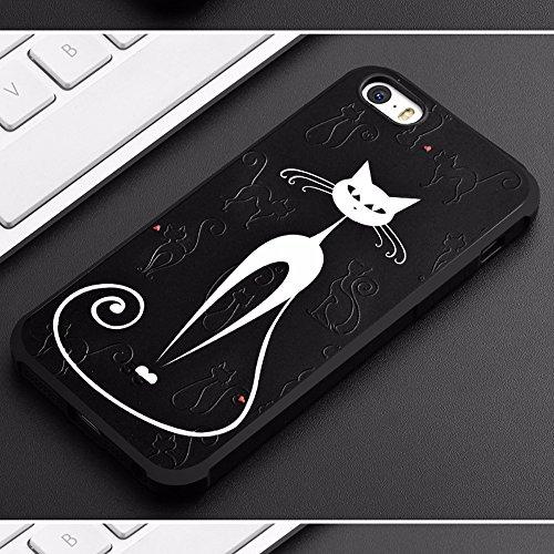 UKDANDANWEI Apple iPhone 6s [QKS] TPU 3D Handyhülle Schutzhülle Silikon kratzfeste stoßdämpfende Case für Apple iPhone 6s - Stil(01) Stil(05)