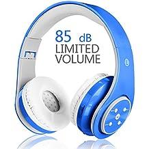 Auriculares inalámbricos para niños, 85 dB Volumen Limitado Auriculares Bluetooth Auriculares Plegables Recargables en el