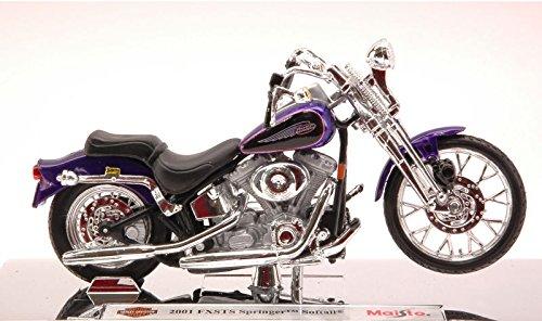 2001 Harley Davidson FXSTS Springer Softail [Maisto 34360-29], Purple, 1:18 Die Cast
