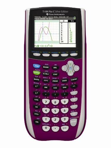Texas Instruments TI-84 Plus C Silber Edition Graphing Calculator, Raspberry (Calculator Graphing Ti84 Plus)