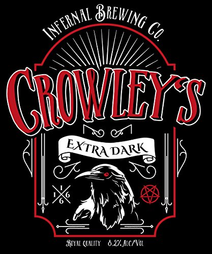 -- Crowley's Extra Dark Stout -- Boys T-Shirt Schwarz