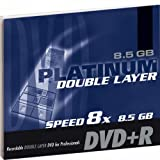 Platinum 8,5 GB DVD+R Double Layer DVD-Rohling (8x Speed) in 1er Jewel Case