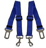 Scarlet pet | KFZ-Hundegurt »Secure III« 2 x Sicherheitsgurt zum Anschnallen von Hunden im Auto; elastischer Dämpfer/Ruckabsorber; einstellbare Länge; mit Karabinerhaken (Blau)