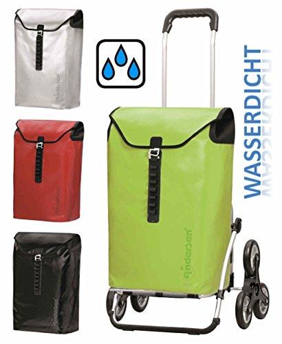 Andersen Treppensteiger Royal Shopper Ortlieb wasserdicht Alu Einkaufs-Trolley (Limone - Grün)
