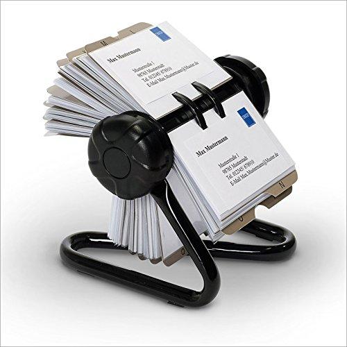 relaxdays-rollkartei-mit-metallstander-und-200-visitenkartenhullen-inkl-24-teiligem-a-z-register