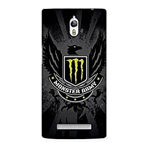 Delighted Army M Multicolor Back Case Cover for Oppo Find 7
