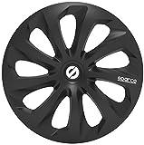 SPARCO SPC1570BK Enjoliveur Sicilia, Noir, Set de 4, 15'