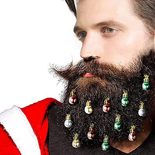 12 STÜCKE Bart Ornamente Gesichts Haarflitter Runde Birne Clips 2 CM Farbe Zufällig
