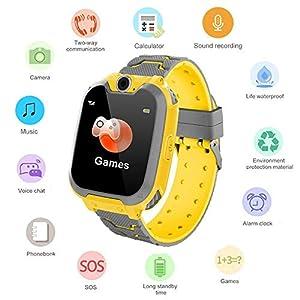 Umiwe Niños Musica Smartwatch, Impermeable Reloj Inteligente Pantalla