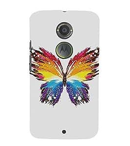Abstract Butterfly 3D Hard Polycarbonate Designer Back Case Cover for Motorola Moto X2 :: Motorola Moto X (2nd Gen)