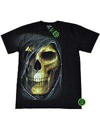 T-Shirt clouté Rock Chang Heavy Metal Biker Tattoo Rocker Gothic Survivors (4032)