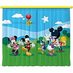 AG Design FCS xl 4307 - Cortinas para habitación infantil, diseño de Mickey Mouse de Disney