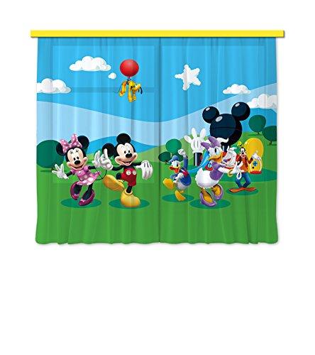 Disney mickey mouse - coppia di tende per la cameretta 180x160 cm