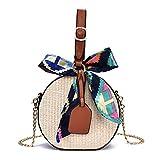 WODENINEK Blumenmuster, Strohsack, Handgemachte Tasche, Summer Beach Bag, Schultertasche,...