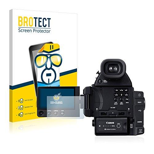 Cinema Kamera C100 Eos Canon (2x BROTECT Displayschutzfolie Canon Cinema EOS C100 Mark II Schutzfolie Folie - Klar, Anti-Fingerprint)