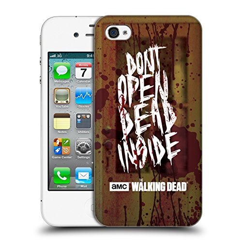 Offizielle AMC The Walking Dead Daryl Typografie Ruckseite Hülle für Apple iPhone 5 / 5s / SE Do Not Open