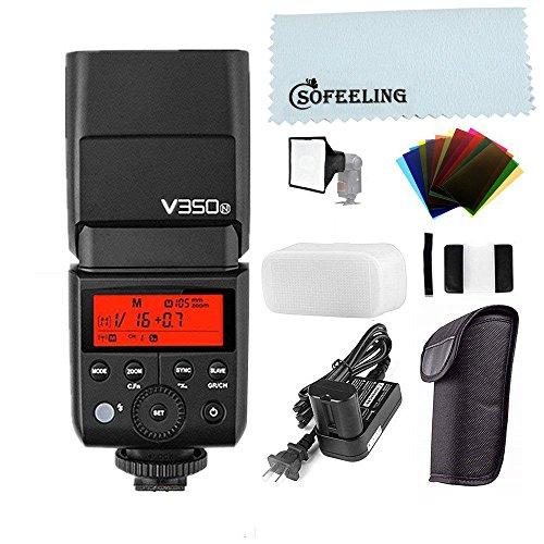 Godox V350N 2.4G Sistema X wireless,TTL 1/8000S GN36 con batteria Flash, batteria ricaricabile agli ioni di litio integrata 7.2V / 2000mAh, per Nikon Fotocamere (V350N)