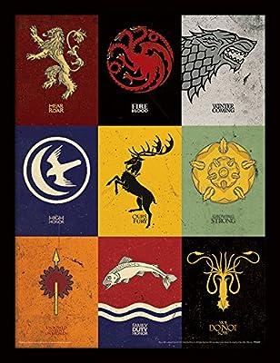 "Game of Thrones ""of 30x 40cm Affiche encadrée"