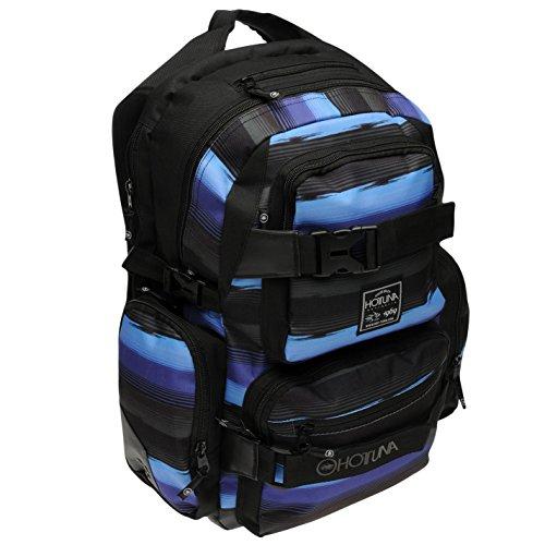 302df1ac72 Hot Tuna Skate Backpack Black Blue Charcoal Bag Holdall Carryall Rucksack  H 44