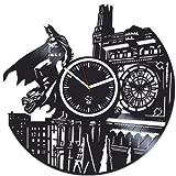 Batman Returns Gotham City, Meilleur Cadeau Homme, disque vinyle Horloge, Kovides Vinyle Horloge murale Home Decor, Saint Valentin Jour Cadeau pour Boyfriend, horloge murale Grande horloge, Comics Marvel, DC film Cadeau