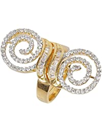 Much More Gold Color Zircons Work Made Ring For Women