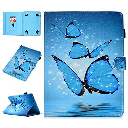 Amcor Love Custodia Folio Universale per 7 Pollici Tablet, Multi Portafoglio Folio Stand Wallet Custodia Protettiva Case Cover con Carte di Credito per Mediacom SmartPad 7.0/iPad/Lenovo/Samsung