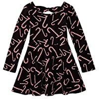 فستان ذا تشيلدرينز بليس بأكمام طويلة بثنيات Starlet Pink 5T