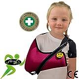 Écharpe D'immobilisation D'épaule De Bras Enfant (FRAMBOISE 3-5 ans) ✔ Poche de bras est grande profonde 'DE LUXE' ✔Conception unique pour prévention de la douleur au cou. Unisexe.