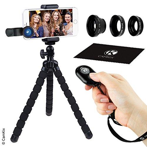 Universal Flexible trípode, 3en 1kit de lente y cámara Kit...