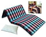 #5: Sleepinns Four Fold Single Bed Size Premium 2.2 inches epe Foam Foldable Mattresses 72